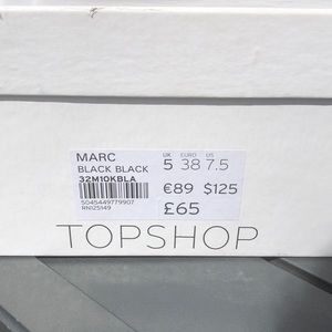 Topshop Shoes - TOP SHOP MARC BLACK PATENT CROC